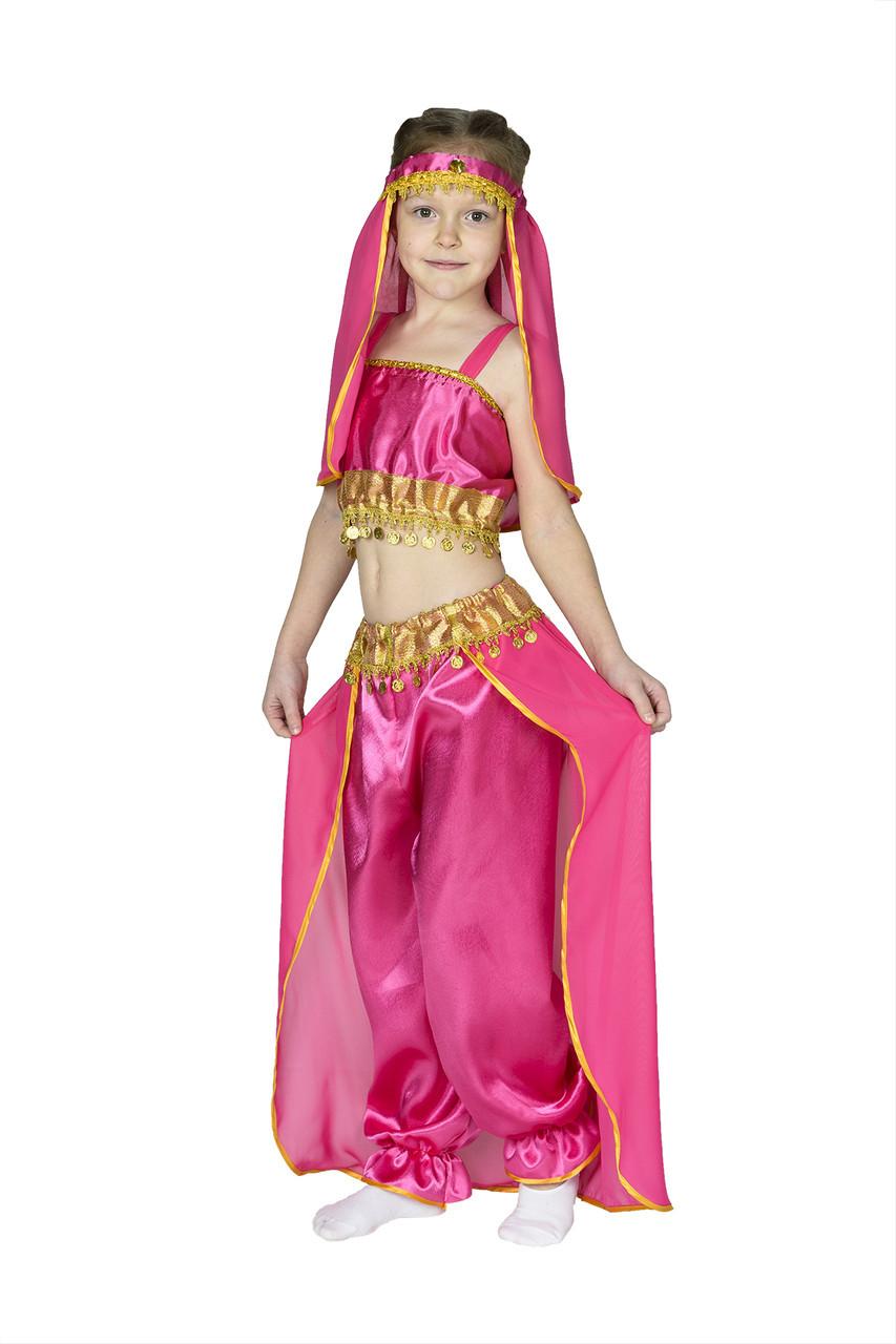 Костюм принцессы Жасмин, восточной красавицы малиновый М - рост 118-124