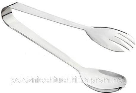 Щипцы раздаточные для салата 19,5 см. нержавеющая сталь FoREST