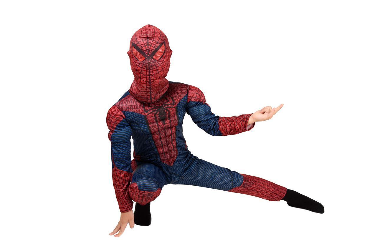 Костюм Человека - паука комбинезон с мышцами