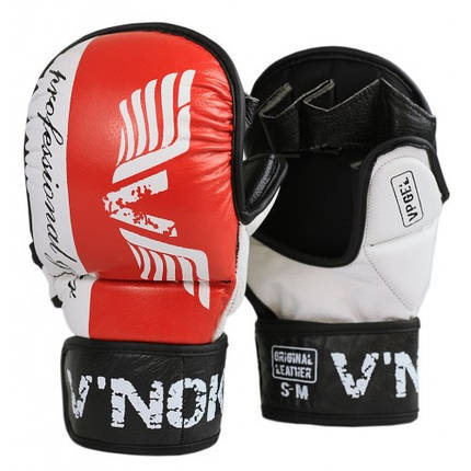 Перчатки MMA V`Noks Lotta Red S/M, фото 2