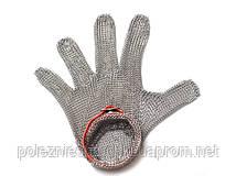 Перчатка кольчужная M, красный ремень FoREST