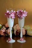 Бокалы свадебные Bohemia Bonjour,madam 190 мл розовый