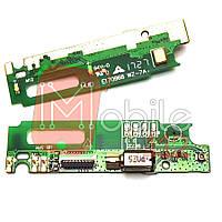 Шлейф для Lenovo P1m Vibe (P1mA40/P1mc50), с разъемом зарядки, с микрофоном, плата зарядки
