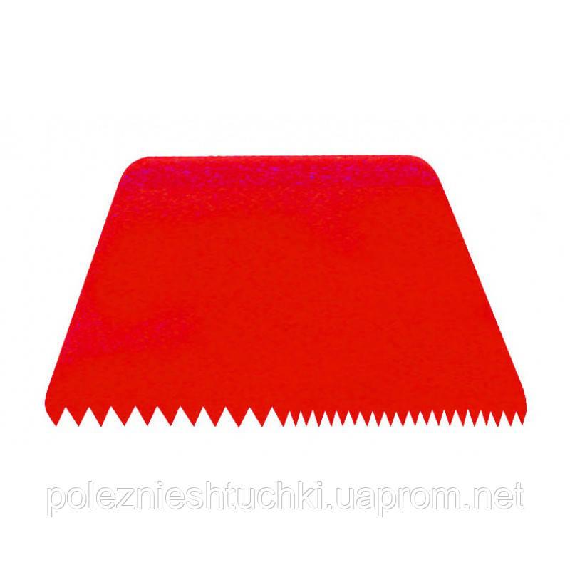 Скребок пластиковый кондитерский 216х128 мм