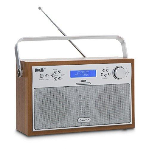 Цифровой радиоприемник Auna Akkord MG2, DAB/DAB+/FM, RDS, 2 х 10 Вт, телескопическая антенна, орех, фото 1
