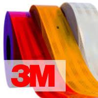 Светоотражающая лента 3M™ 983 для контурной маркировки - желтая, красная, белая (55 мм х 50 м)
