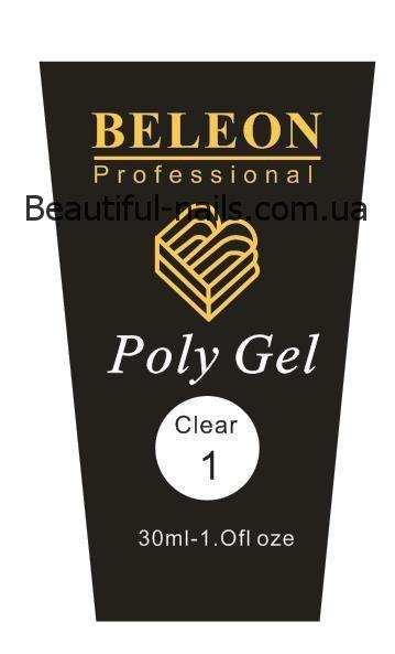 Полигель Beleon 30 грамм  №1 clear