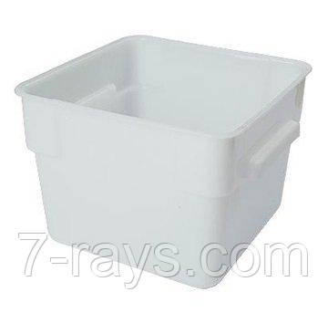 Контейнер для хранения квадратный 28,5x28,5х21 см, 12 л. поликарбонатовый, белый FoREST