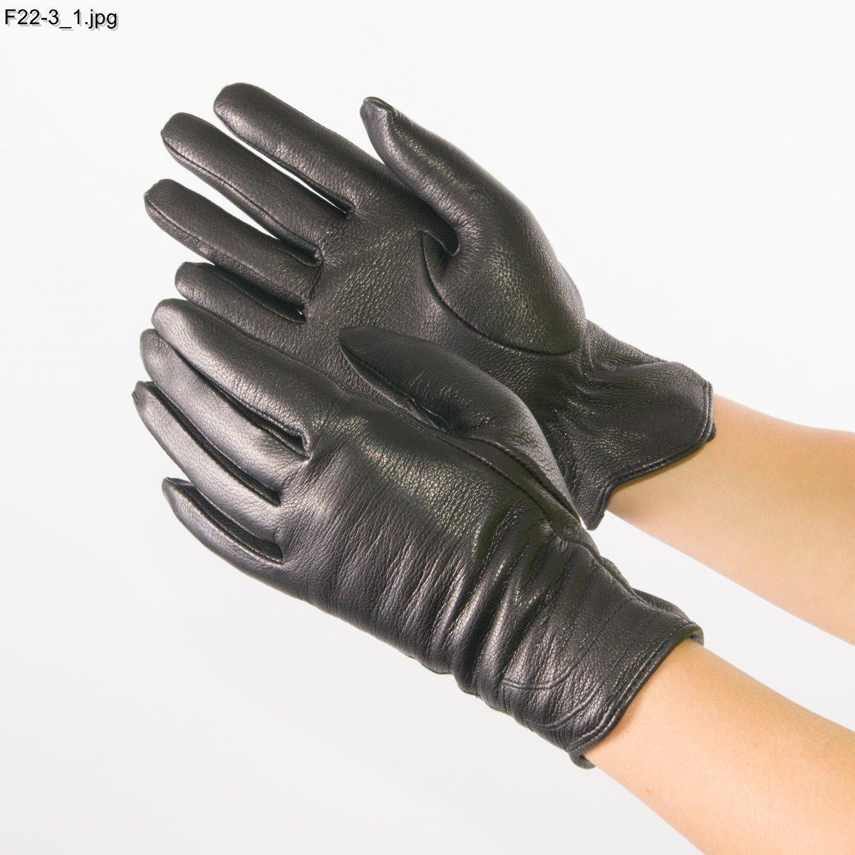 Оптом женские перчатки из оленьей кожи на вязаной шерстяной подкладке - F22-3