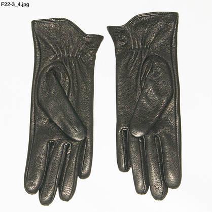 Оптом женские перчатки из оленьей кожи на вязаной шерстяной подкладке - F22-3, фото 2