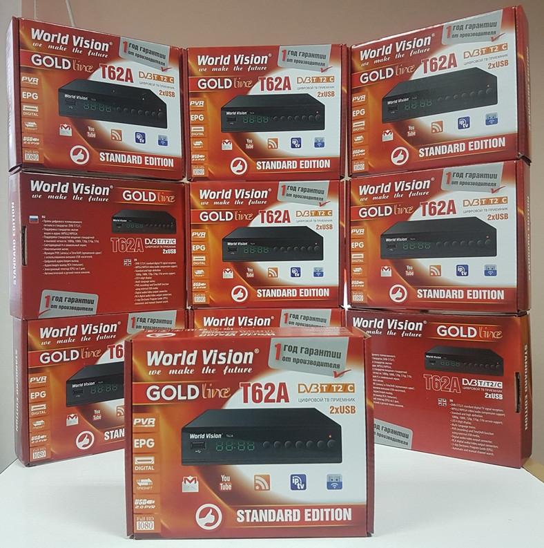 World Vision T62A Цифровой эфирный DVB-T2 приемник ресивер приставка тюнер декодер т2