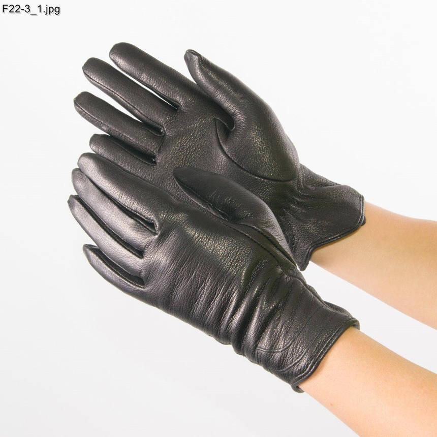 Женские перчатки из оленьей кожи на вязаной шерстяной подкладке - F22-3 6,5, фото 2