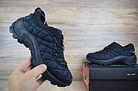 Мужские зимние кроссовки в стиле Merrell ICEBERG MOC черные нейлон с флисом. Код: ОД - 3154