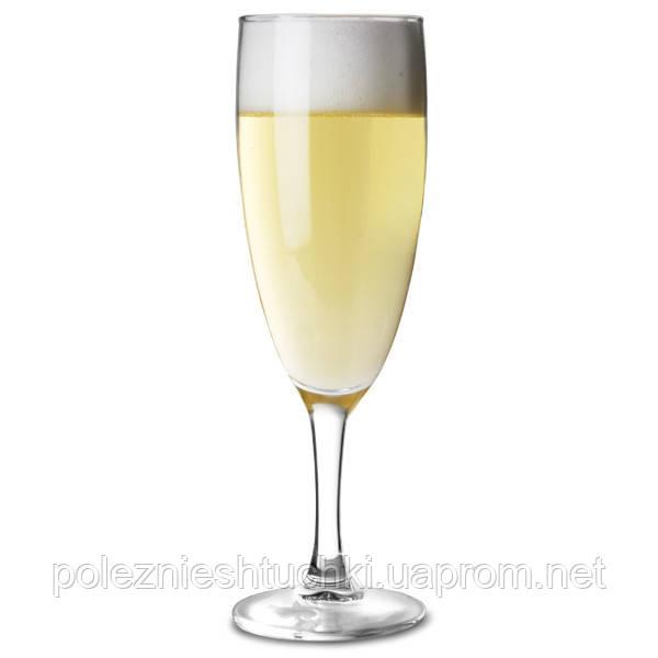 Бокал для шампанского 130 мл. на ножке, стеклянный Elegance, Arcoroc