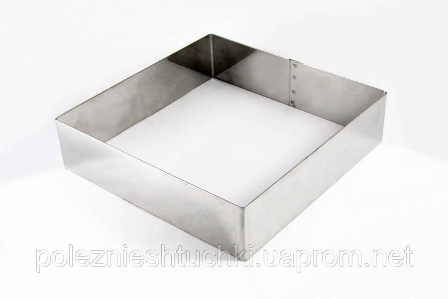 Форма без дна 20х20х5 см. квадратная, нержавеющая сталь Martellato