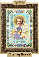 Схема для вышивки бисером «Святой Александр Невский»