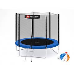 Батут із зовнішньою мережею Hop-Sport 244 см Blue