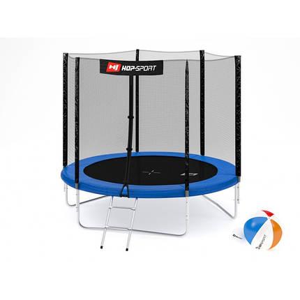 Батут із зовнішньою мережею Hop-Sport 244 см Blue, фото 2