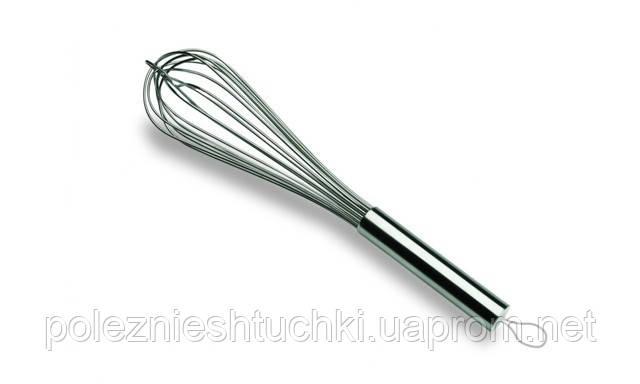 Венчик жесткий 35 см., 8 прутьев с ручкой из нержавеющей стали Lacor