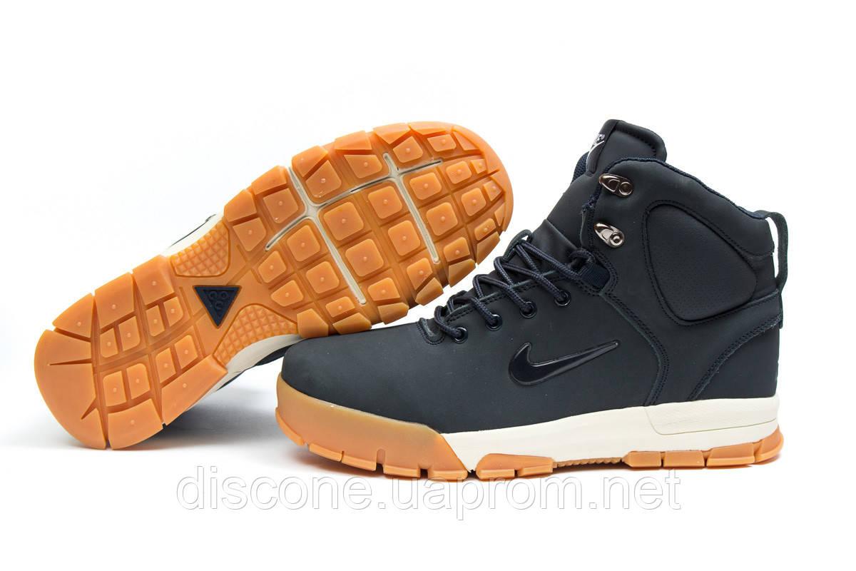 Зимние ботинки на меху ► Nike ACC Winter,  темно-синие (Код: 30391) ►(нет на складе) П Р О Д А Н О!