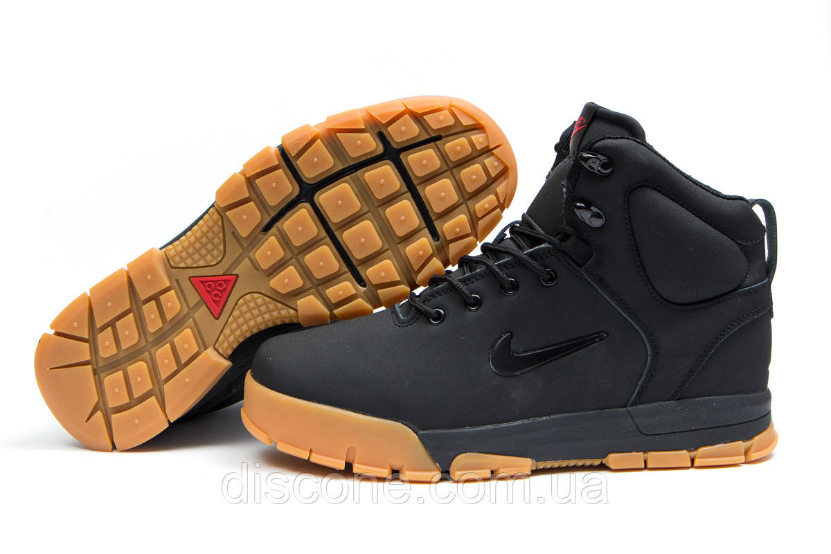 Зимние ботинки на меху ► Nike ACC Winter,  черные (Код: 30392) ►(нет на складе) П Р О Д А Н О!