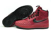 Зимние ботинки на меху Nike LF1 Duckboot, бордовые (30402), р.  [  44 (последняя пара)  ]
