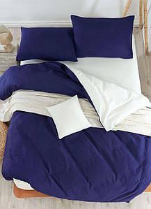 Постельное белье Eponj Home Paint Mix Lacivert-Krem евро размер