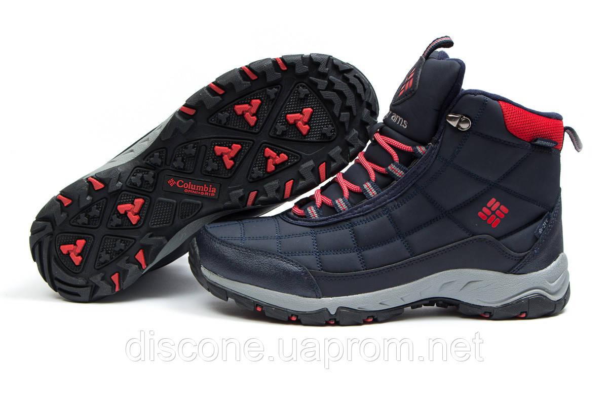 Зимние ботинки на меху ► Columbia Waterproof,  темно-синие (Код: 30413) ►(нет на складе) П Р О Д А Н О!