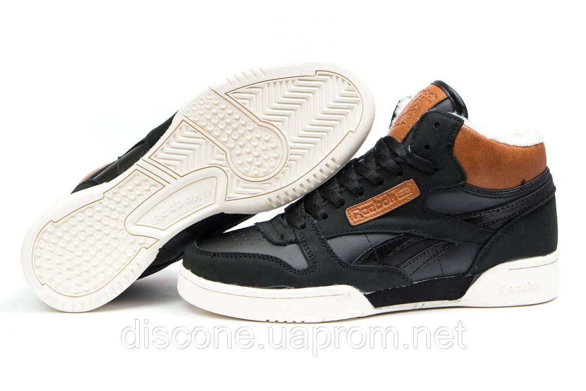 Зимние кроссовки на меху ► Reebok Classic,  черные (Код: 30451) ►(нет на складе) П Р О Д А Н О!