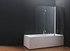 Шторка для ванны koller pool QP96 chrome transparent R