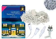 Новогодняя гирлянда Бахрома 500 LED, Белый холодный свет 22,5W, 24 м + Ночной датчик