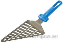 Лопатка для пиццы перфорированная 19х14,5 см. с пластиковой ручкой GI.METAL