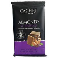 Шоколад молочный Cachet Almonds & Raisins, 300г
