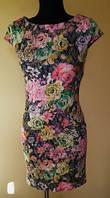 Нарядное летнее платье с цветочным узором 42