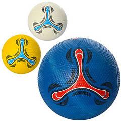 Мяч футбольный резиновый , 350г, в пак. 31см (30шт)