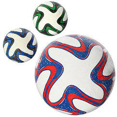 Мяч футбольный, размер 5, резина Grain, 350г, сетка, в пак. 3 цвета, в пак. 23см (30шт)
