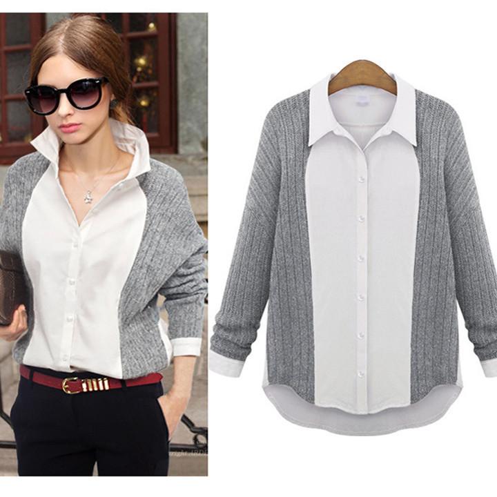 Женская блуза-свитер 2 в 1,