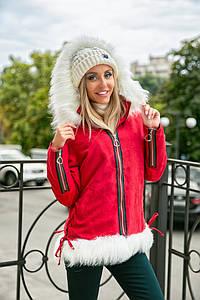 Женская куртка парка с капюшоном в расцветках. ПН-1-1018