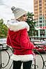 Женская куртка парка с капюшоном в расцветках. ПН-1-1018, фото 5
