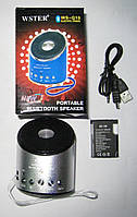 Портативная Bluetooth колонка WSTER SPS WS Q10, музыкальная колонка, mp3 колонка с fm приемником, фото 1