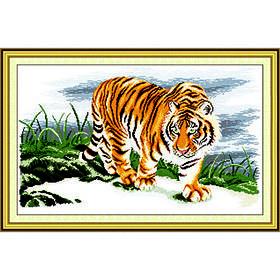 """Вышивка крестиком """"Гордый тигр"""""""