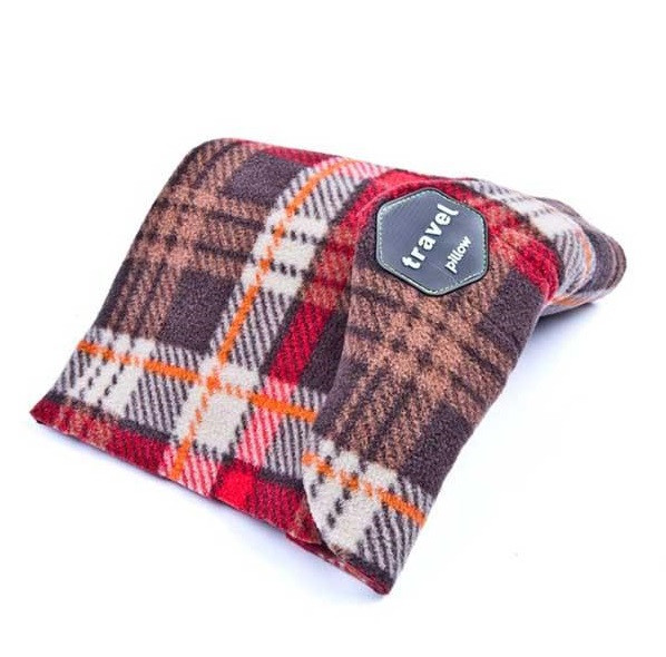 Подушка для путешествий SUNROZ Travel Pillow В Клеточку (SUN2292)
