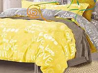 """Семейный комплект постельного белья ТМ """"Ловец снов"""", Яркий желтый"""