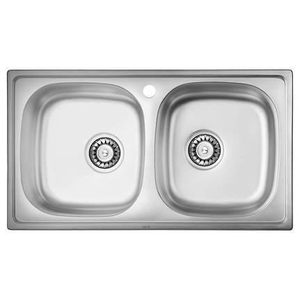 Кухонная мойка ULA из нержавеющей стали 5104 ZS polish 08мм , фото 2