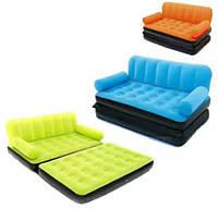 Надувной диван-трансформер с электронасосом Велюр