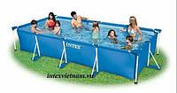 Прямоугольный каркасный бассейн Intex