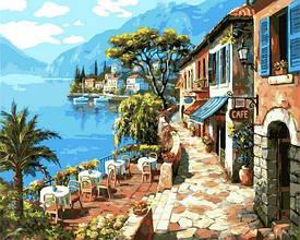 Картина по номерам Прогулка вдоль моря