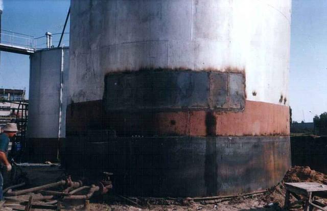 Наращивание дополнительных поясов к стенкам резервуаров