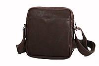 Повседневная мужская сумка через плечо из натуральной кожи  , фото 1