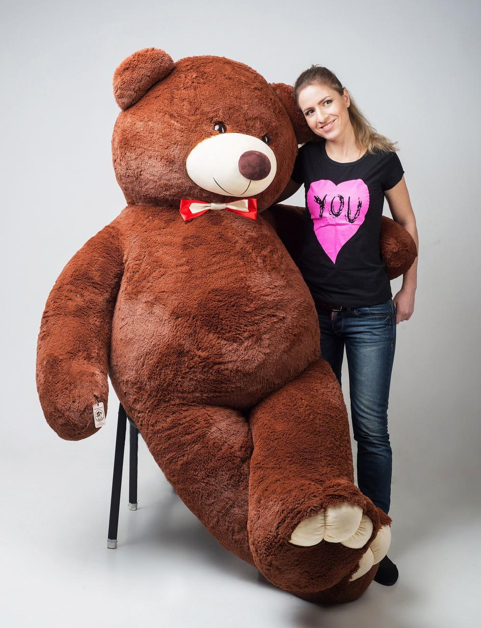 Плюшевый мишка Mister Medved Бурый 2 м 50 см (Мягкая плюшевая игрушка)